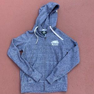 Grey Roots Canada zip up hooded sweatshirt